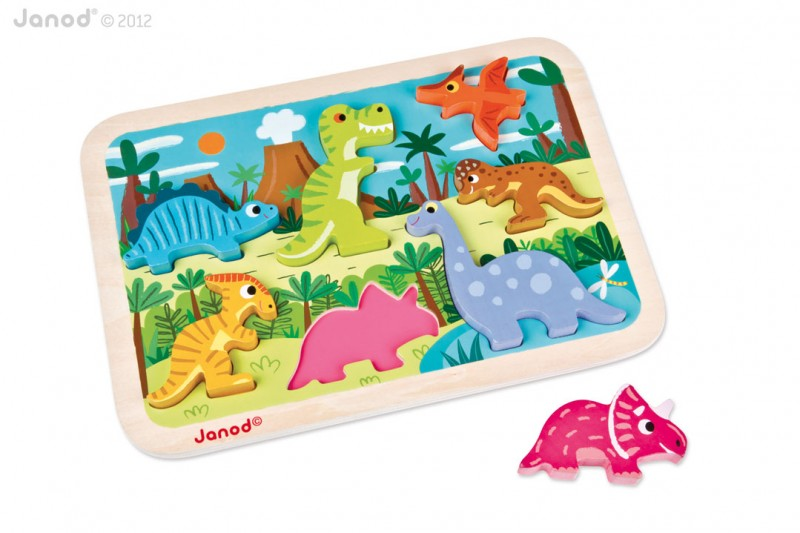 Dinosauři chunky puzzle, Janod
