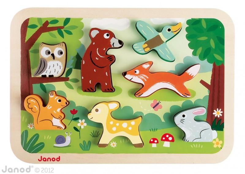 Zvířátka z lesa chunky puzzle, Janod