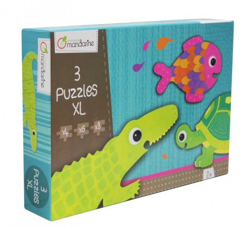 XL Puzzle Krokodýl a kamarádi, Avenue Mandarine