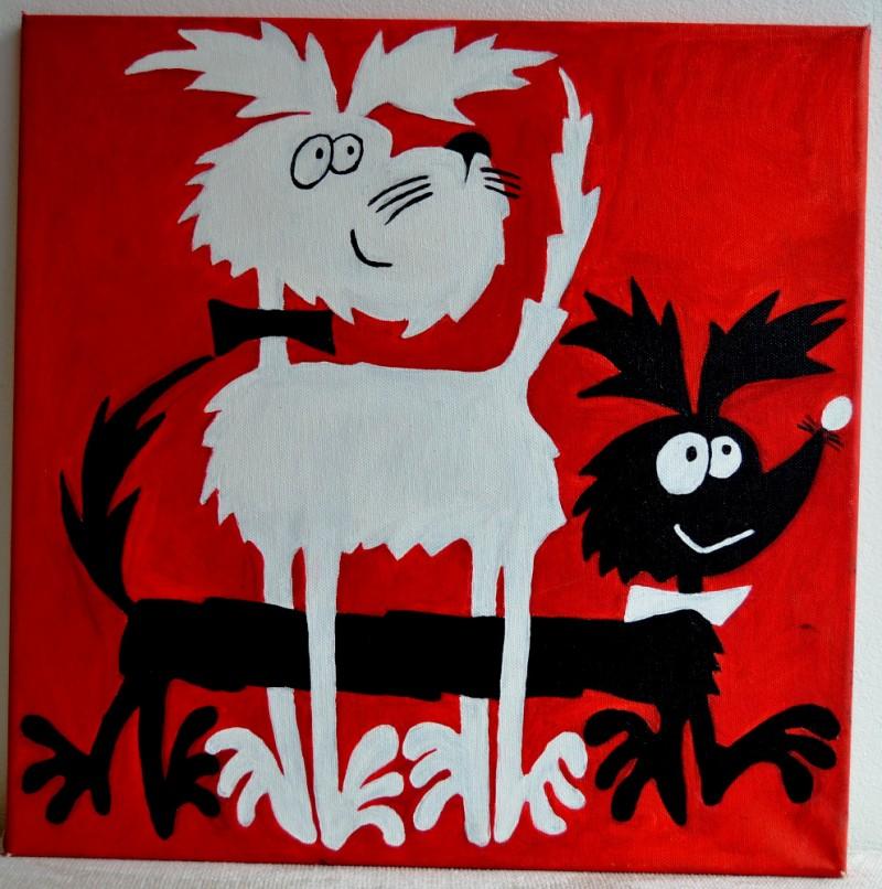 Obraz na plátně Štaflík a Špagetka