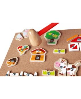 Zatloukací hračka Farma, Scratch