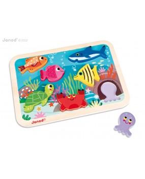 Mořský svět chunky puzzle, Janod