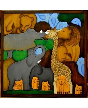 Dřevěná skládačka Safari